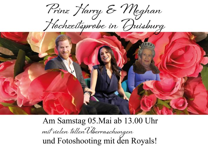 We're amused: Royaler Besuch im Knüllermarkt