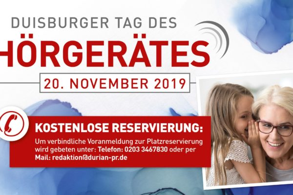2. Duisburger Tag des Hörgerätes informiert